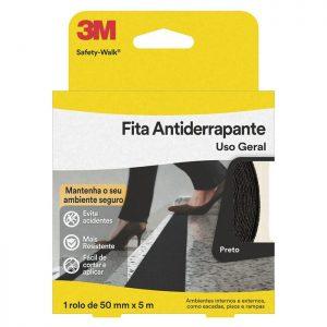 FITA ANTIDERRAPANTE SAFETY WALK PRETA 50MM X 5M – 3M